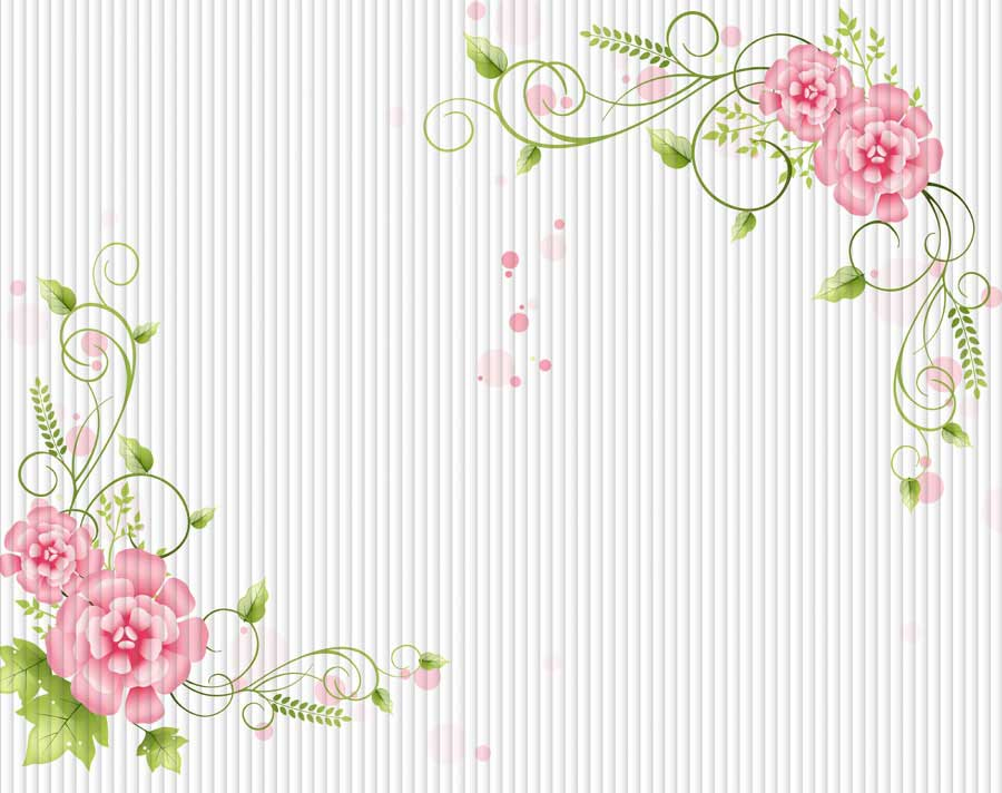 b4231-3d-简约 条形梦幻背景 花纹 花卉 花藤