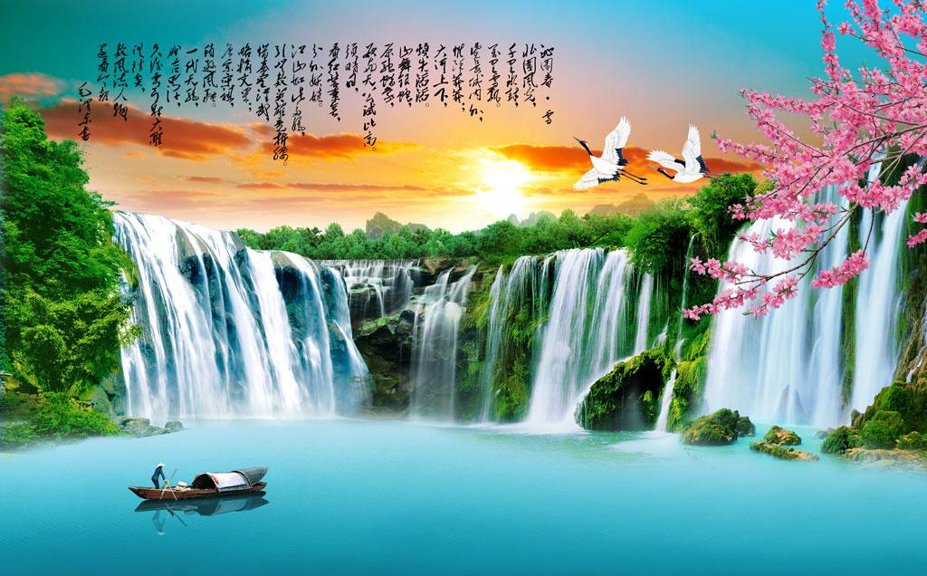 a050123-中式自然风景-流水生财