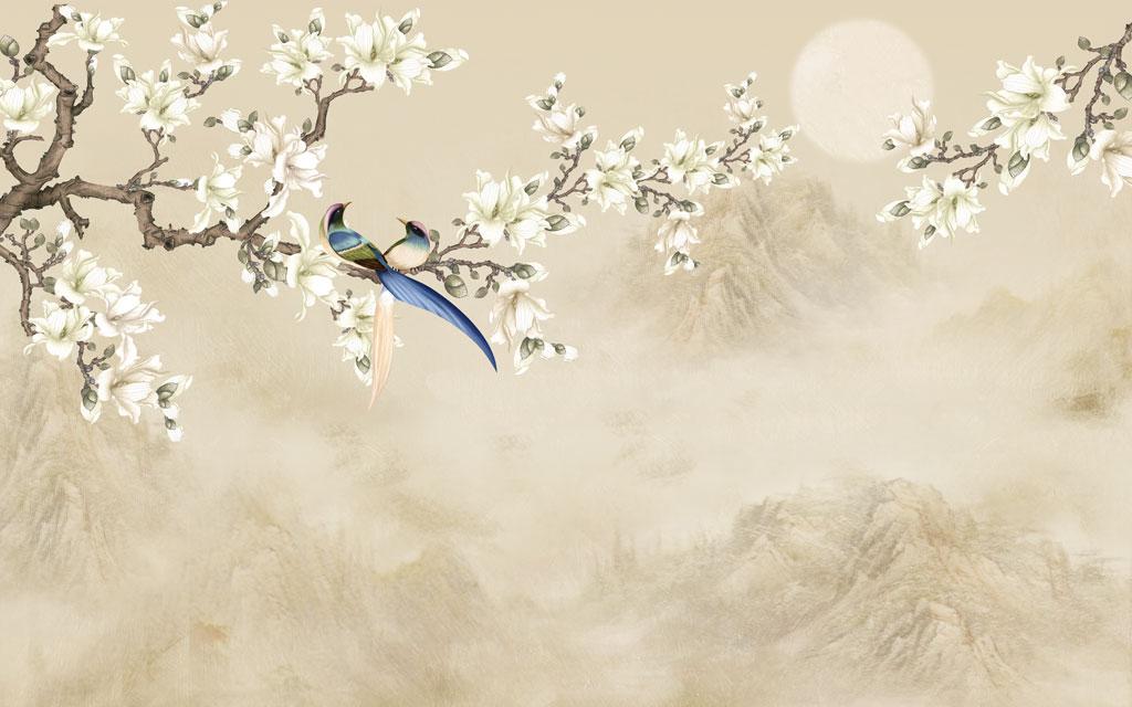 a050879 中式山水花鸟画