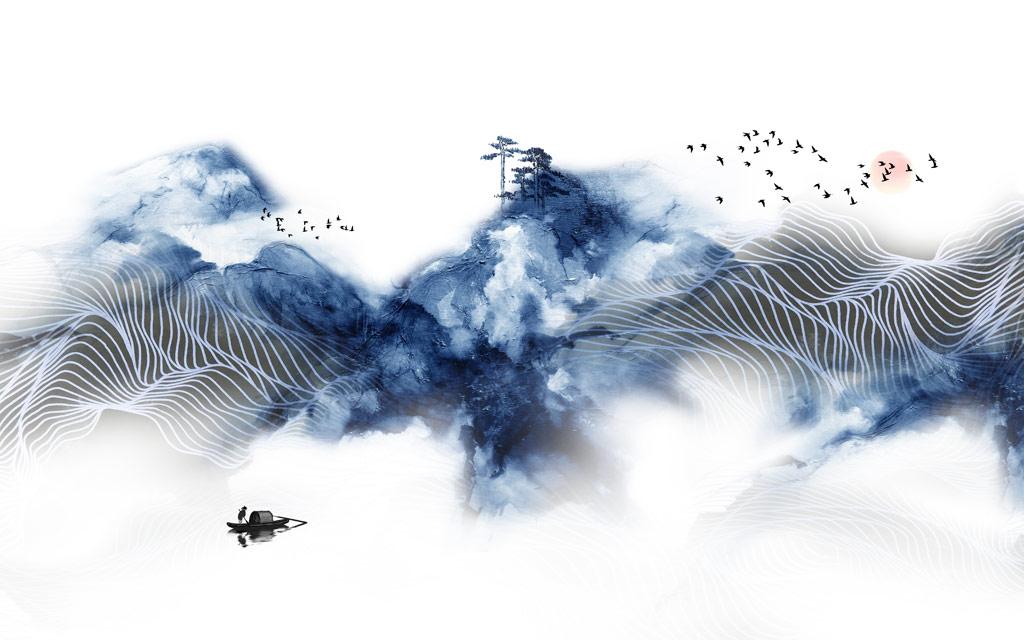 a051844新中式禅意水墨画